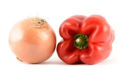 Πιπέρι και κρεμμύδι Στοκ Φωτογραφία