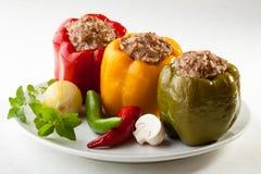 πιπέρι κρέατος που γεμίζε& Στοκ φωτογραφία με δικαίωμα ελεύθερης χρήσης