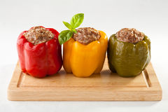πιπέρι κρέατος που γεμίζε& Στοκ φωτογραφίες με δικαίωμα ελεύθερης χρήσης