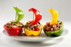 πιπέρι κρέατος που γεμίζε& Στοκ Εικόνες