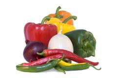 πιπέρι κρεμμυδιών τσίλι Στοκ εικόνα με δικαίωμα ελεύθερης χρήσης