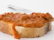 πιπέρι ντομάτα πολτοποίηση& Στοκ Εικόνες