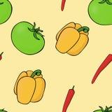 Πιπέρι ντοματών σχεδίων Διάνυσμα πιπεριών Στοκ φωτογραφία με δικαίωμα ελεύθερης χρήσης