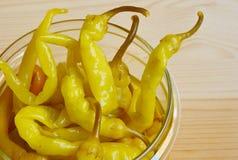 πιπέρι που μαρινάρεται καυτό Στοκ Εικόνες
