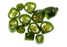 Πιπέρι πράσινο Cayenne τσίλι Στοκ εικόνες με δικαίωμα ελεύθερης χρήσης