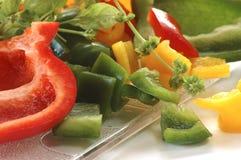 πιπέρι χορταριών που τεμαχί& στοκ φωτογραφία με δικαίωμα ελεύθερης χρήσης