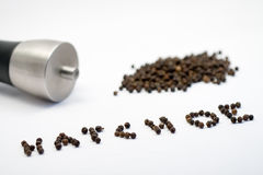 πιπέρι peppermill Στοκ εικόνα με δικαίωμα ελεύθερης χρήσης