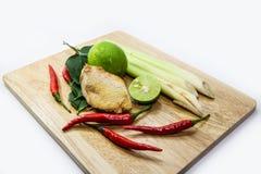 Πιπερόριζα, lemograss, κρεμμύδι, φύλλα ασβέστη, τσίλι, λεμόνι, φρέσκο χορτάρι Στοκ Εικόνες