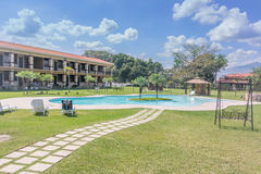 Πισίνα στο μεγάλο ξενοδοχείο Caporal στη Γουατεμάλα Στοκ εικόνες με δικαίωμα ελεύθερης χρήσης