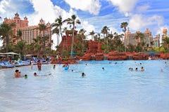 Πισίνα στο νησί παραδείσου, οι Μπαχάμες Στοκ εικόνα με δικαίωμα ελεύθερης χρήσης