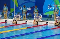 Πισίνα στο ολυμπιακό στάδιο Aquatics Στοκ φωτογραφία με δικαίωμα ελεύθερης χρήσης