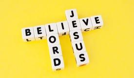 Πιστεψτε στο Λόρδο Ιησούς Στοκ Φωτογραφία