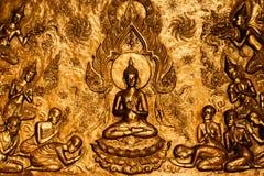 Πιστεψτε τους ταϊλανδικούς λαούς του Βούδα στο ναό Στοκ Φωτογραφία