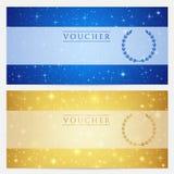 Πιστοποιητικό δώρων, απόδειξη, πρότυπο δελτίων. Αστέρια Στοκ φωτογραφίες με δικαίωμα ελεύθερης χρήσης