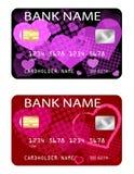 Πιστωτικές κάρτες, θέμα ημέρας βαλεντίνων Στοκ Εικόνες