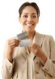 Πιστωτικές κάρτες Στοκ Εικόνες
