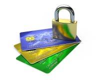 πιστωτική ασφάλεια καρτών Στοκ εικόνα με δικαίωμα ελεύθερης χρήσης