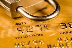 πιστωτική ασφάλεια καρτών Στοκ φωτογραφίες με δικαίωμα ελεύθερης χρήσης