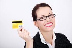 πιστωτική εμφάνιση καρτών &epsilon Στοκ Εικόνα