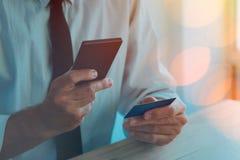 Πιστωτική κάρτα και κινητή πληρωμή Στοκ εικόνα με δικαίωμα ελεύθερης χρήσης