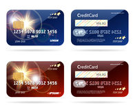 Πιστωτική κάρτα με τα εικονίδια τσιπ διανυσματική απεικόνιση