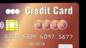 Πιστωτική κάρτα με το ανέπαφο τσιπ πληρωμής ελεύθερη απεικόνιση δικαιώματος