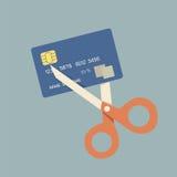 πιστωτική κοπή καρτών επάνω ελεύθερη απεικόνιση δικαιώματος