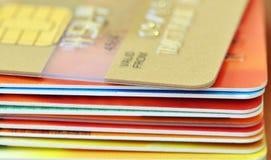 πιστωτική στοίβα καρτών στοκ εικόνες