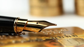 πιστωτικός χρυσός καρτών στοκ φωτογραφίες