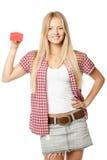 πιστωτικό κορίτσι καρτών Στοκ εικόνα με δικαίωμα ελεύθερης χρήσης