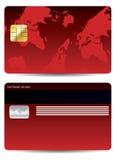 πιστωτικό κόκκινο καρτών Στοκ Φωτογραφίες