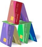 πιστωτικό σπίτι καρτών Στοκ Εικόνες