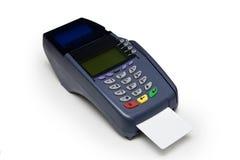 πιστωτικό τερματικό καρτών Στοκ εικόνα με δικαίωμα ελεύθερης χρήσης