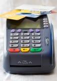 πιστωτικό τερματικό καρτών Στοκ φωτογραφία με δικαίωμα ελεύθερης χρήσης