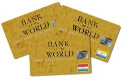 πιστωτικό τριπλάσιο καρτών Στοκ Εικόνες