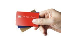 πιστωτικό χέρι καρτών Στοκ Φωτογραφίες