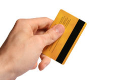 πιστωτικό χέρι καρτών Στοκ φωτογραφία με δικαίωμα ελεύθερης χρήσης