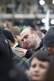 Πιστός στο τετράγωνο του ST Peter Στοκ φωτογραφία με δικαίωμα ελεύθερης χρήσης