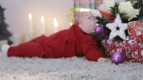 πιωμένο Claus santa απόθεμα βίντεο