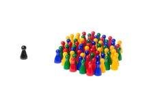 Πιόνια παιχνιδιών Στοκ εικόνα με δικαίωμα ελεύθερης χρήσης