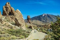 Πιό αναγνωρίσιμη άποψη του υποστηρίγματος Teide Tenerife Όμορφο τοπίο στο εθνικό πάρκο Tenerife με το διάσημο βράχο, στοκ φωτογραφία με δικαίωμα ελεύθερης χρήσης