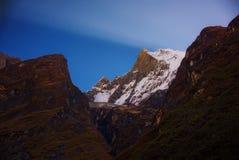 πιό βροχερή κρατική ανατολή ΗΠΑ Ουάσιγκτον πάρκων ΑΜ εθνική Machapuchare Annapurna, Νεπάλ Στοκ Εικόνες