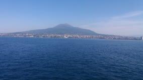 Πιό επικίνδυνο ηφαίστειο του Βεζούβιου στην Ιταλία στοκ εικόνες