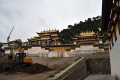 Πιό κοντά στον κύριο ναό σε Serti Gompa σε Langmusi που ` s όντας στοκ φωτογραφία