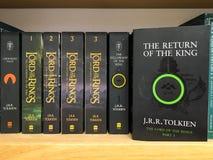 Πιό πρόσφατα αγγλικά μυθιστορήματα φαντασίας για την πώληση στο κατάστημα βιβλίων βιβλιοθήκης στοκ φωτογραφίες με δικαίωμα ελεύθερης χρήσης