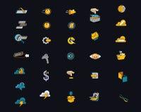 Πιό πρόσφατα σύγχρονα εικονίδια για τους ιστοχώρους και Apps διανυσματική απεικόνιση