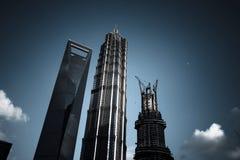 Πιό ψηλός ουρανοξύστης της Σαγκάη Στοκ Εικόνες
