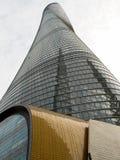Πιό ψηλός πύργος πύργων της Σαγκάη στην ΚΙΝΑ Στοκ Φωτογραφίες