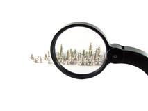 πιό magnifier βίδες Στοκ εικόνα με δικαίωμα ελεύθερης χρήσης