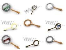 πιό magnifier Στοκ φωτογραφία με δικαίωμα ελεύθερης χρήσης